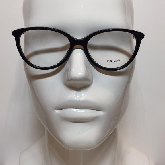 cf2751c0bdeb Prada VPR03O 1AB-1O1 black plastic Eyeglasses 53mm